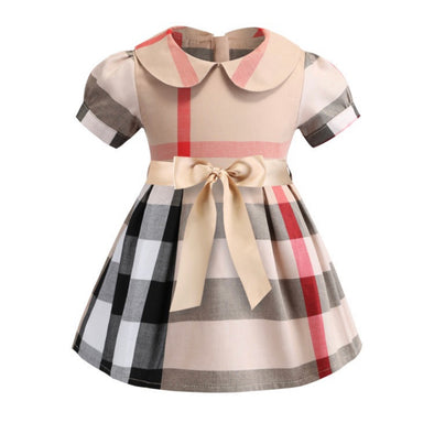 Piper Short Sleeved Collared Bow Dress
