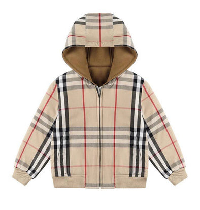 Mikey Checked Hooded Bomber Jacket