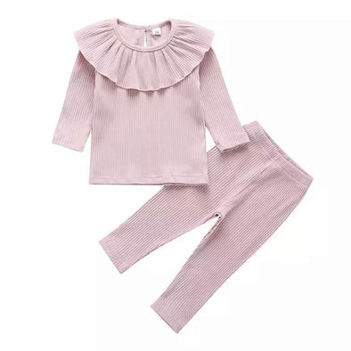 Charlotte Pink Ribbed Set
