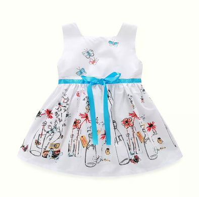 Blue Ribbon Milk Dress