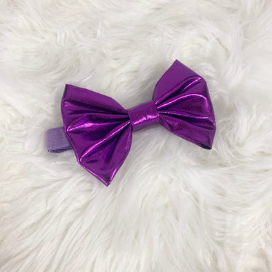 Purple Metallic Head Band