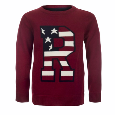 Ryder Burgundy Flag Front Jumper