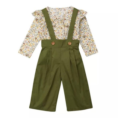 Autumn Green Two Piece Trouser Summer Set