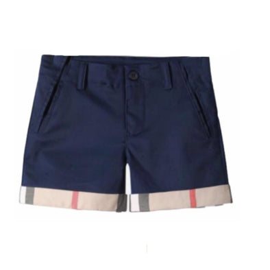 Mason Navy Checked Shorts