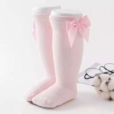Baby Pink Bow Socks