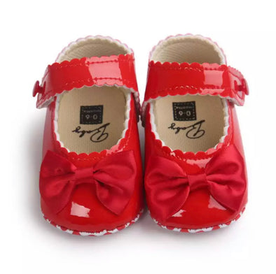 Red Bow Front Shoes