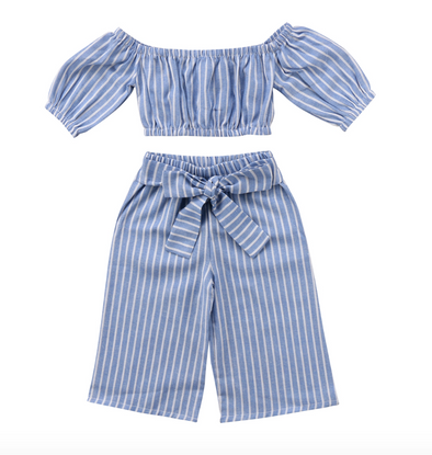 Monica Two Piece Striped Set