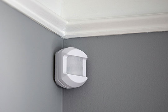 Motion sensors watch for activity