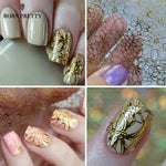 1 Sheet Embossed 3D Nail Stickers Blooming Flower 3D Nail Art-Makeup Access