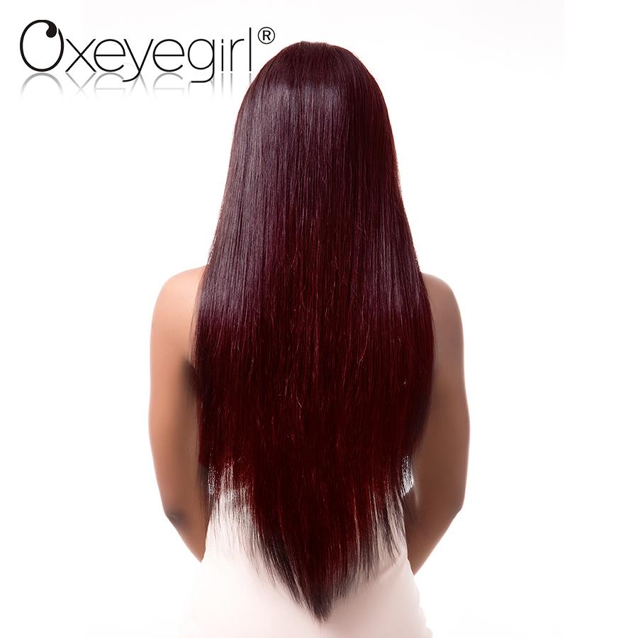 Burgundy Brazilian Hair Red Straight Non Remy 100% Human-Makeup Access