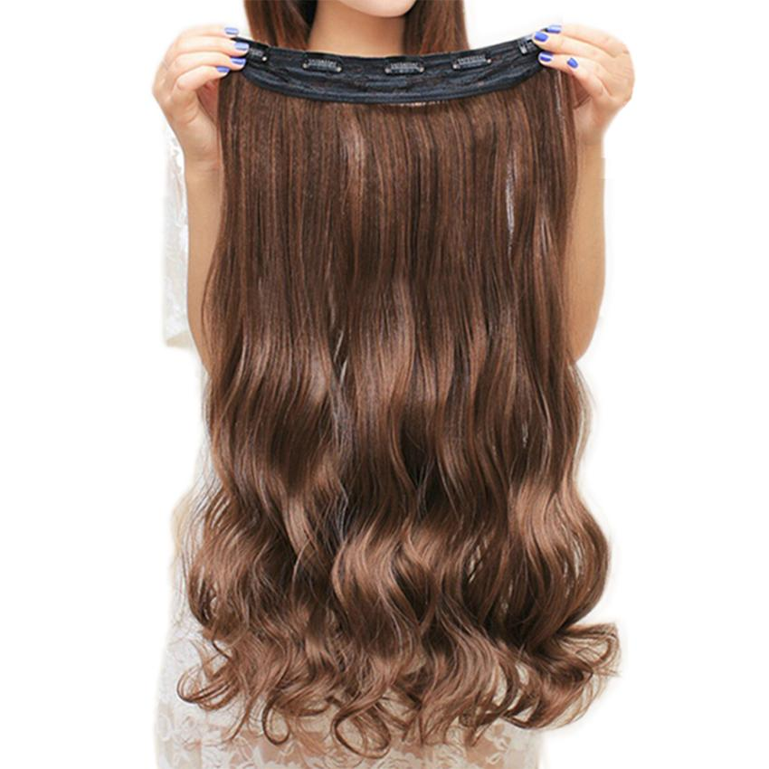 Clip In Hair Extension Heat Resistant Hairpiece Natural Wavy-Makeup Access