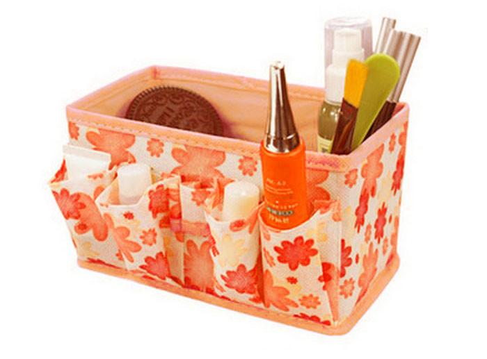 Exquisite Makeup Cosmetic Storage Box Organizer Fordable Container-Makeup Access