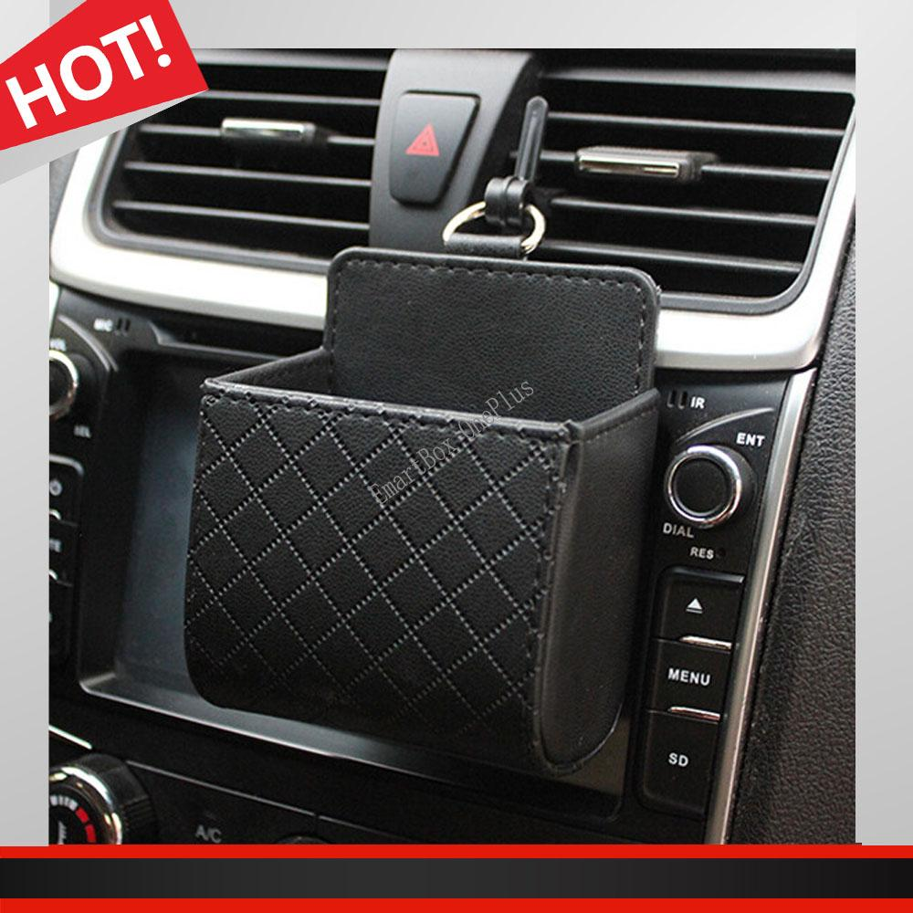 Functional Car Outlet Tidy Storage Coin Bag Case Pocket Organizer Hanging Holder Iphone-Makeup Access