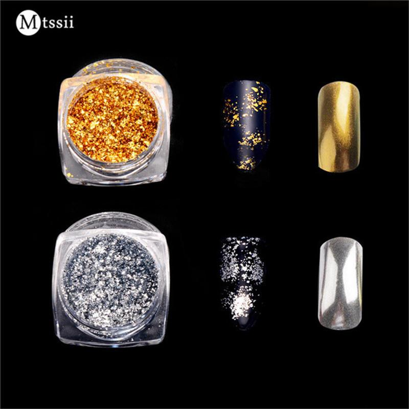 Mtssii 1 Box Gold/Silver Glitter Aluminum Flakes-Makeup Access