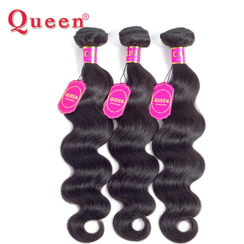 Queen Hair Products Brazilian Body Wave 100% Remy human hair extensions 1 Piece-Makeup Access