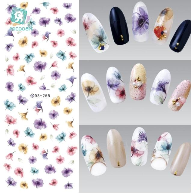 Rocooart DIY Water Transfer Nails Art Stickers-Makeup Access