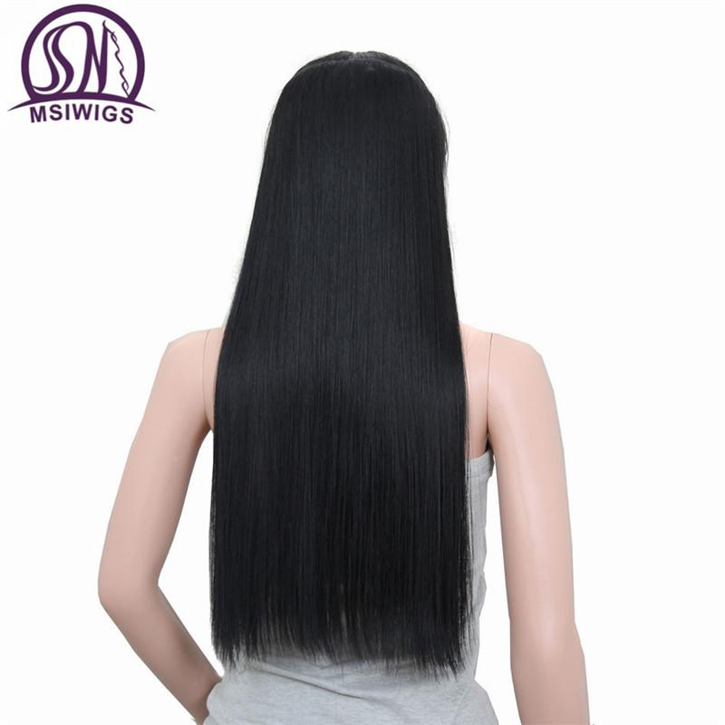 Straight Long Hair Extension 5 Clips in Hair Extensions 24 Inch-Makeup Access