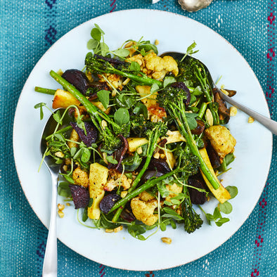Meera Sodha's Indian Spiced Salad with Tenderstem broccoli and Rooted Spices Brassica Blend