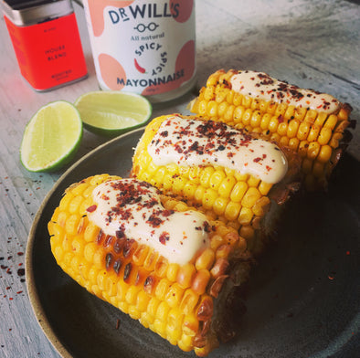 MEXICAN-STYLE 'ELOTES' CORN ON THE COB