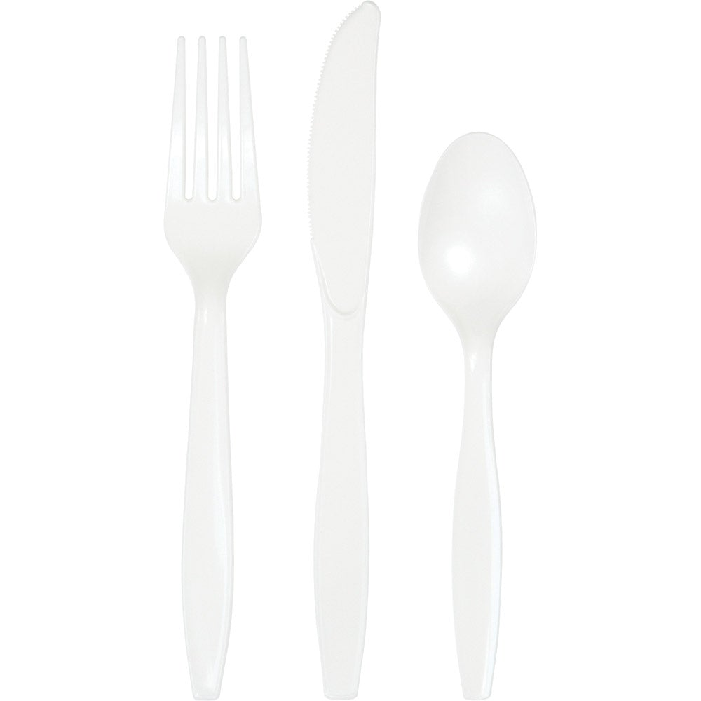 White Assorted Cutlery