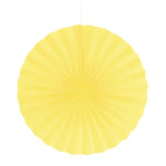 Yellow Mimosa Paper Fan