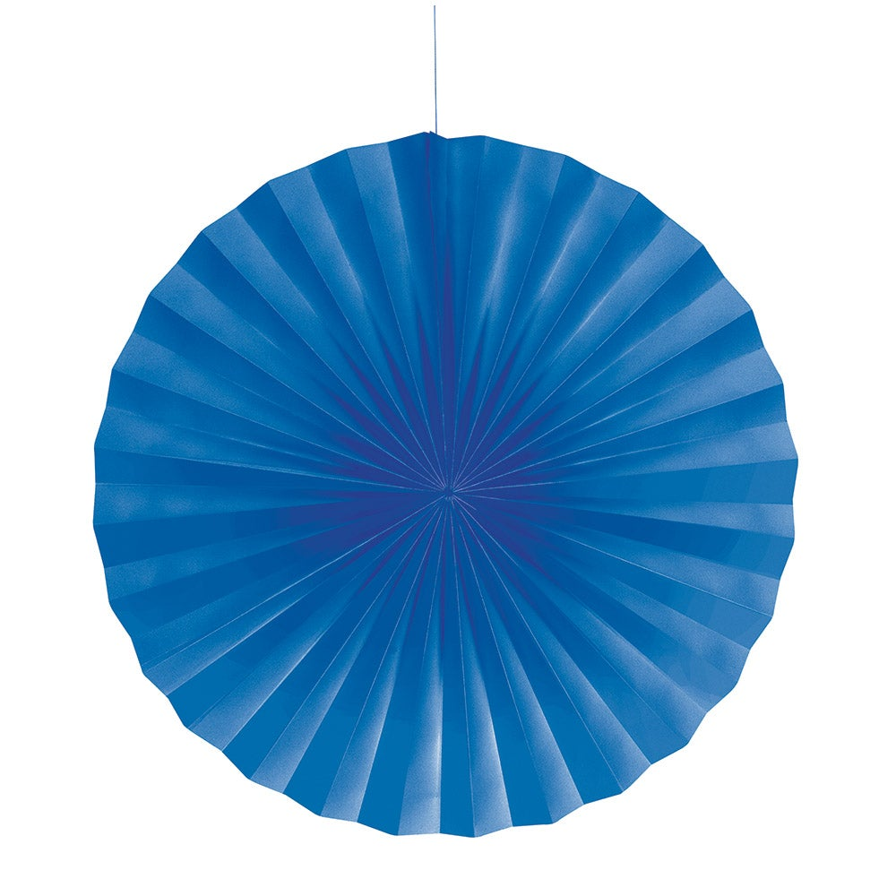 Paper Fan True Blue 16""