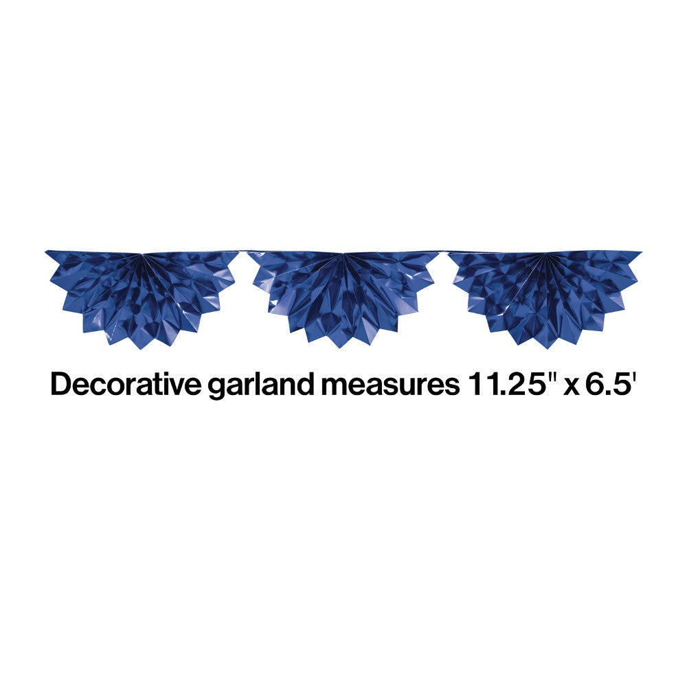 Foil Bunting Garland 6.5 Blue