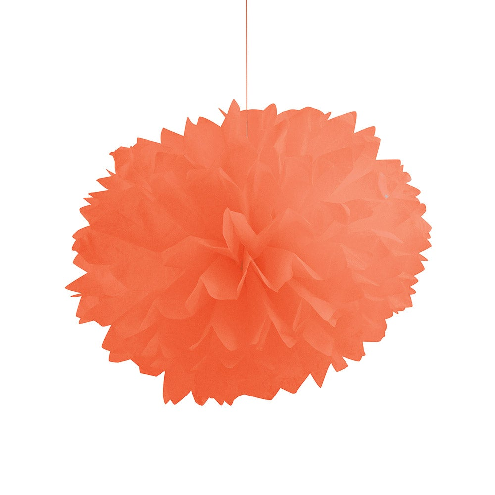 Sunkissed Orange Fluffy Pompom