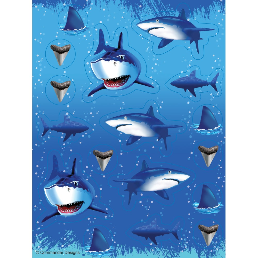 Shark Splash Stickers