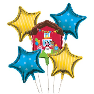 Farmhouse Fun Balloon Cluster