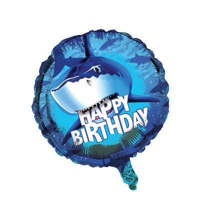 Shark Splash Metallic Balloon