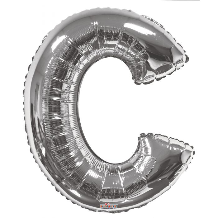 "34"" Shaped Letter Silver"