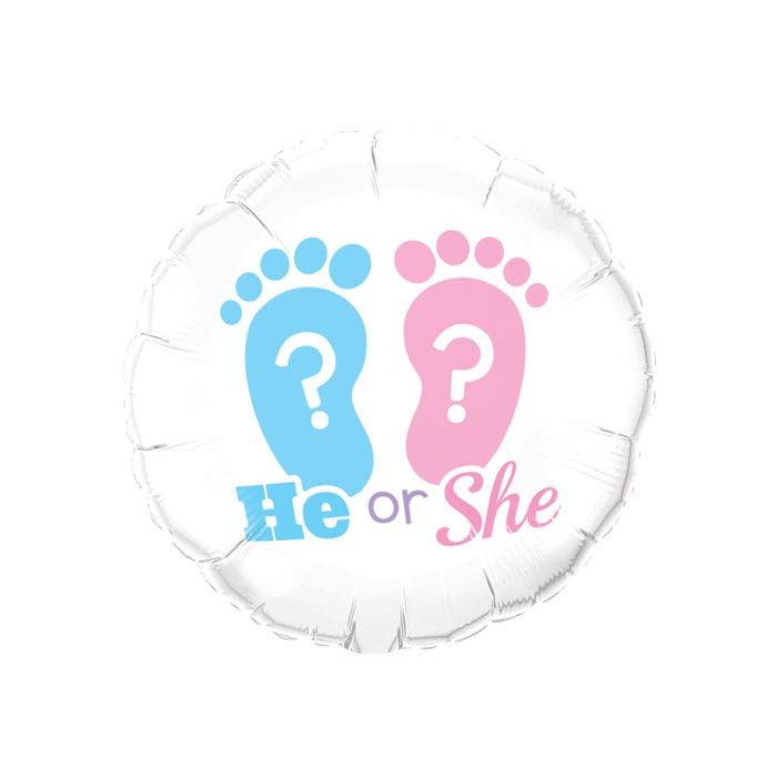 "18"" He or She Footprint Balloon"