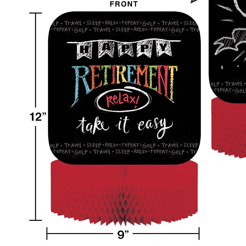 Retirement Chalk Centerpiece
