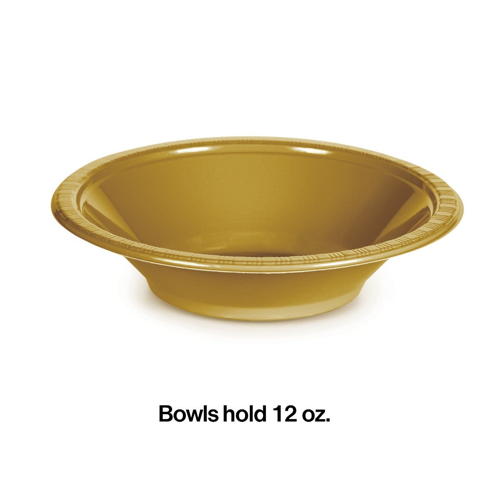 Glittering Gold Bowl (20 counts