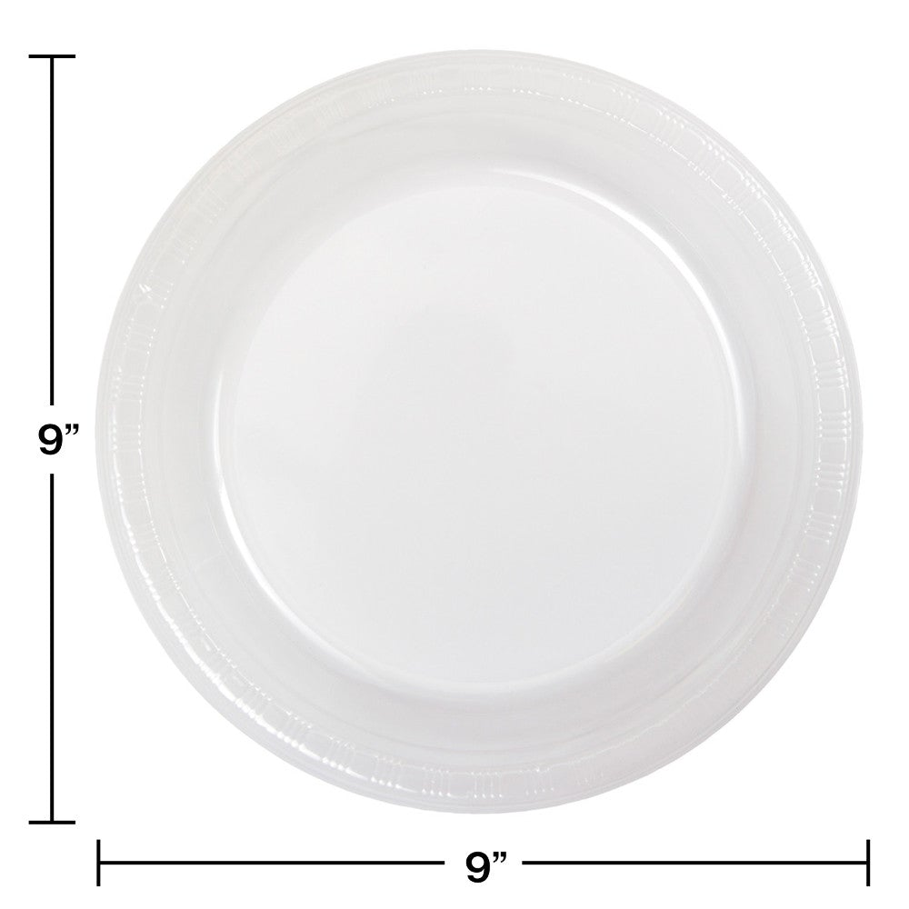 "Clear 9"" Plastic Dinner Plates"