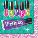 Sparkle Spa  Luncheon Napkins  Happy Birthday