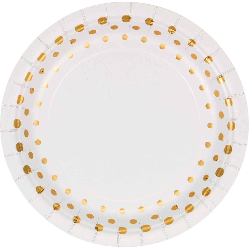 "Sparkle and Shine Gold  7"" Lunch Plates"