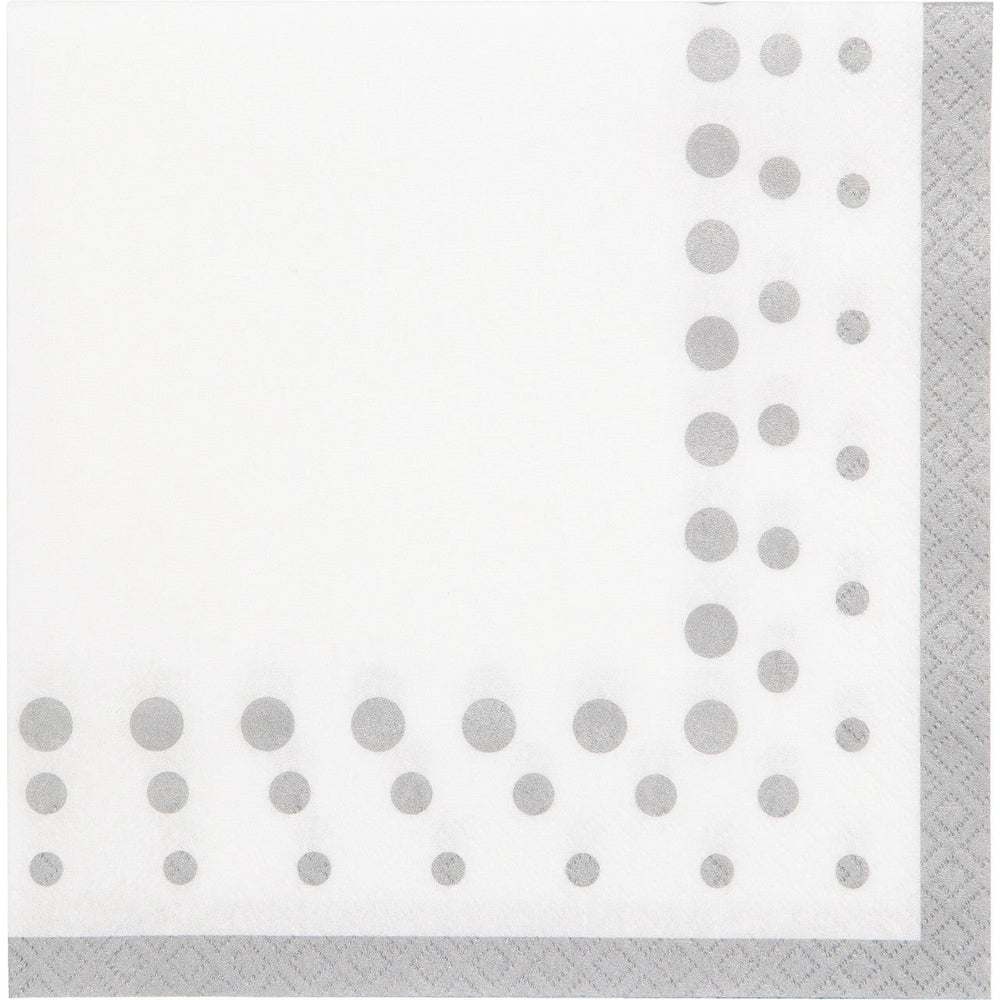 Sparkle and Shine Dinner Napkin Silver