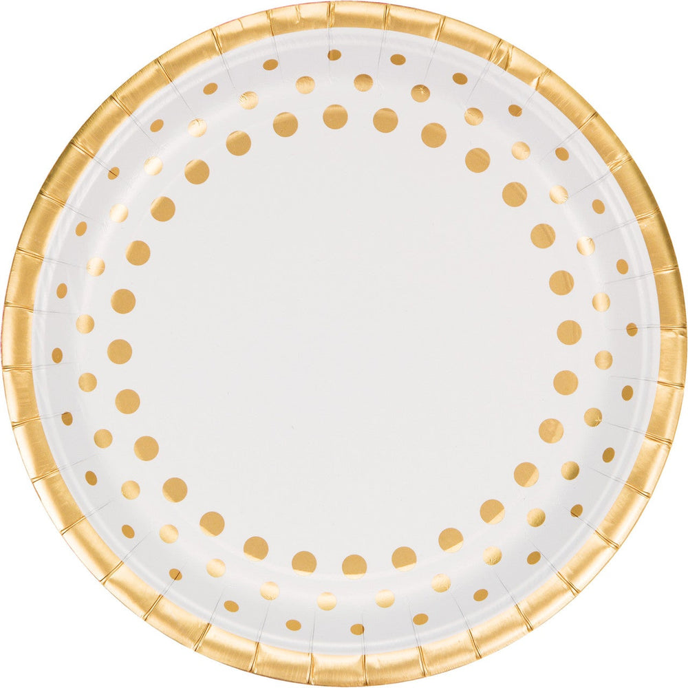 Sparkle and Shine Gold Buffet Plates