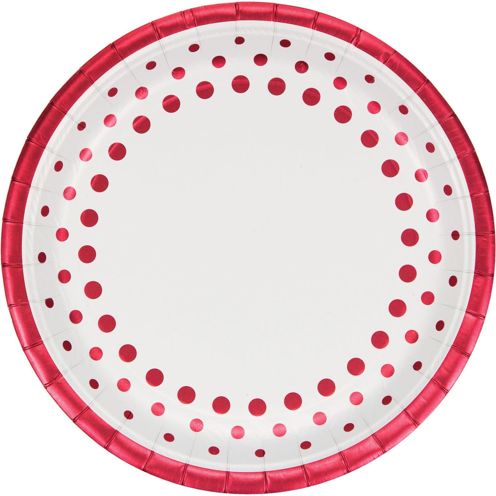 Sparkle and Shine Red Banquet Plates