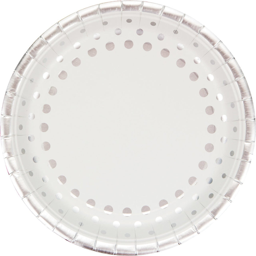 Sparkle and Shine Silver  Banquet Foil Rim