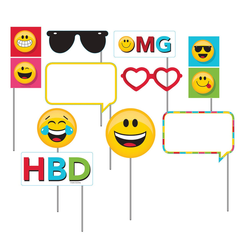 Emojions Photo Booth Prop Kit(10 Piece)