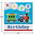 All Aboard  Luncheon Napkin, Happy Birthday