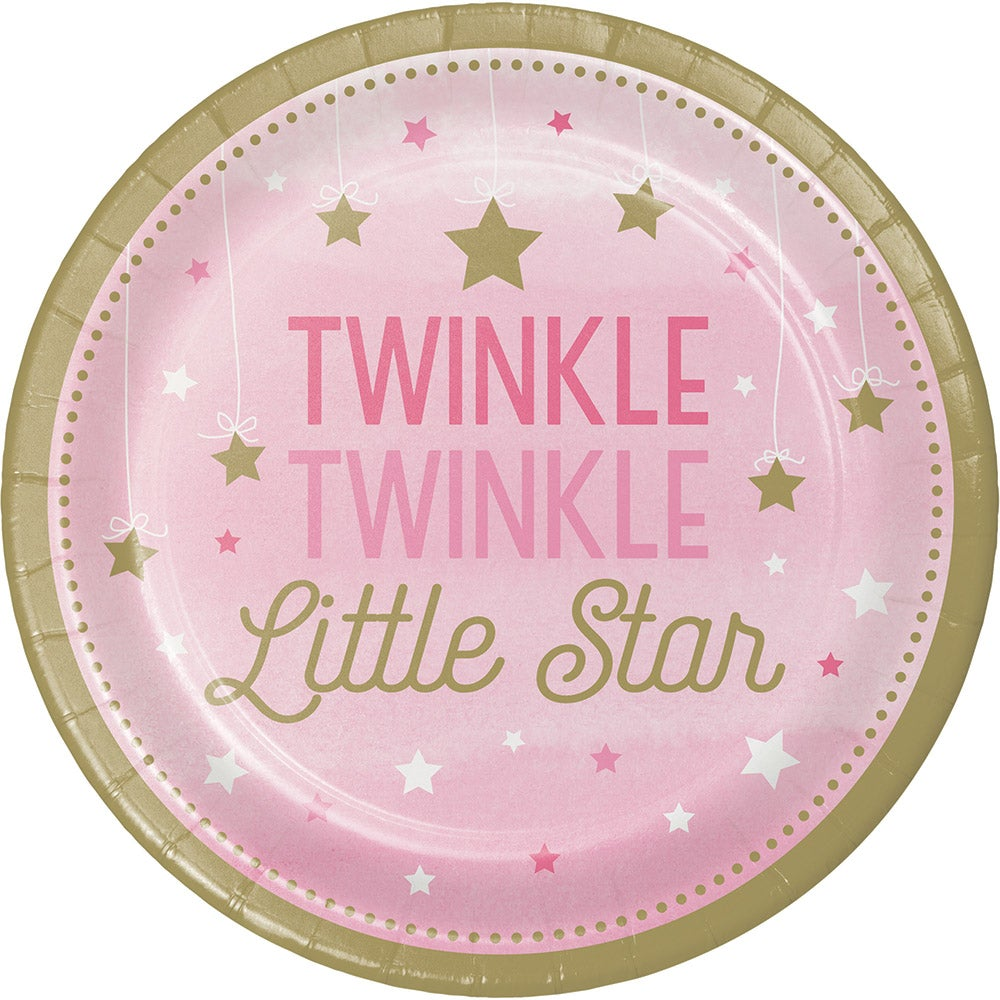 One Little Star Girl Dinner Plate
