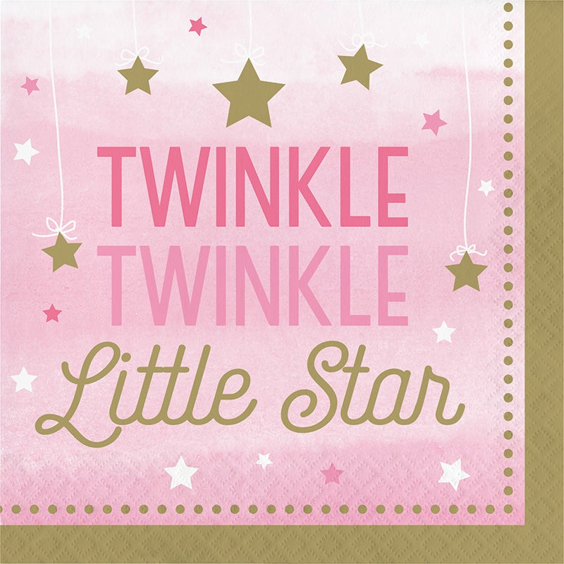 One Little Star Girl  Luncheon Napkin
