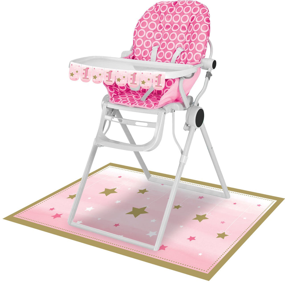 One Little Star Girl High Chair Kit Girl