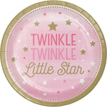 One Little Star Girl  Luncheon Plates