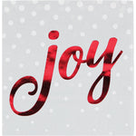 Foil Stamped Holiday Joy Silver