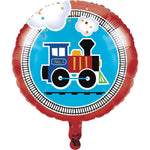 All Aboard  Metallic Balloon 18""